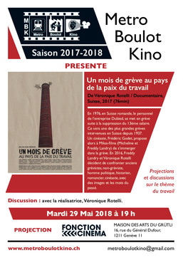 Projection le 29 mai 2018 à Metro Boulot Kino